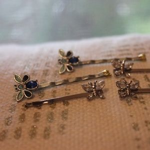 Set of 90's Vintage Butterfly Hair Pins
